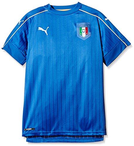 PUMA Kinder Trikot FIGC Italia Home Shirt Replica, Blau, 748833 01, 176 (15-16 Jahre)