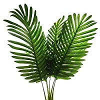 Singring 10 Pack Palm Artificial Plants Leaf Faux Leaves Green Plants for Home Decor Kitchen Party Flowers Arrangement Wedding Decorations