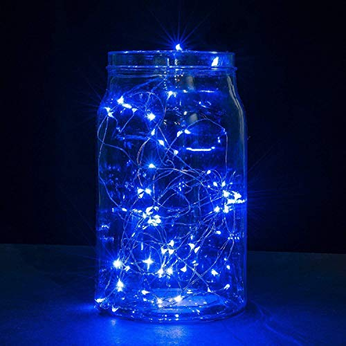 Lichtleiste LED Light Copper wire light string gaddrt 3m30 LED Tauchbar Wasserdichtes feenhaftes Licht Kupferdraht String Lichter Basislampe (Blau)