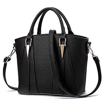 Women's V-Shape Handbags Leather Shoulder Bags Large Top-Handle Bags Cross-Body Bags Tote Bag Messenger Bag