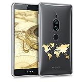 kwmobile Sony Xperia XZ2 Premium Hülle - Handyhülle für Sony Xperia XZ2 Premium - Handy Case in Gold Transparent