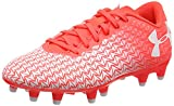 Under Armour UA CF Force 3.0 FG Jr, Chaussures de Football Entrainement Mixte Enfant, Rouge (Neon Coral 611), 33.5 EU