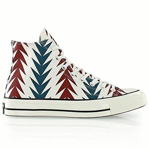 Converse Unisex-Erwachsene All Star Prem Hi 1970'S Can Gr High-top, weiß/rot/blau, 42 EU (Hightop Skate Herren Schuhe)