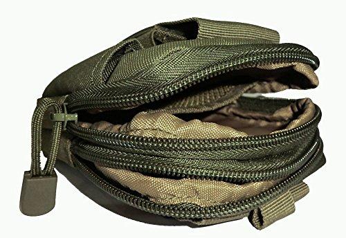 iLory Multifunktions Outdoor Reisen Sport Taktische Tasche Bauchtasche,Universal Handytasche Hüfttasche Mobile Taille tasche Beutel Militär Grün