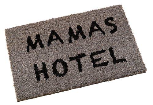 Kokosfußmatte 'Mamas Hotel' in grau Shabby Chic Fußabstreifer