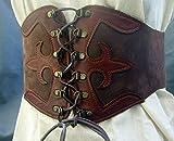 Miedergürtel Echtleder Farbe dunkel braun Passend für Taillenweite 75-80 cm -