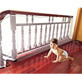 Kiddale Baby Safety Polyester Fabric Net with Cable Ties (3 m Length, White)
