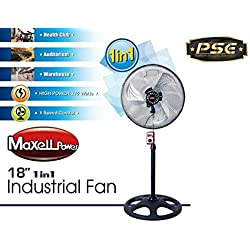 """Maxell Power CE Ventilador DE PIE Industrial 18"""" Pulgadas"""