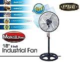 Maxell Power CE Ventilador DE PIE Industrial 18' Pulgadas 115W 3 VELOCIDADES Garantia