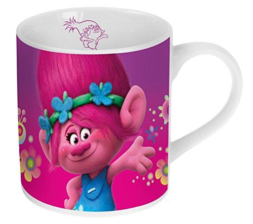 Trolls Porzellan Kaffeebecher Kinderbecher in Geschenkverpackung 180ml 2 verschiedene Designs (Bücher Meine Bestellten)