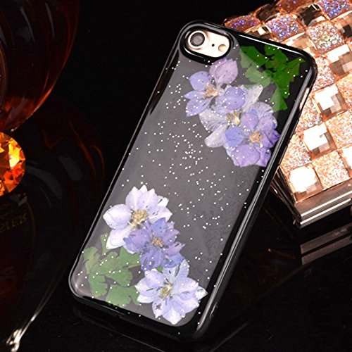 Pour iPhone 6 Plus / 6s Plus, Epoxy Dripping Pressed Real Dried Flower Housse de protection TPU Soft Case arrière JING ( SKU : Ip6p2295l ) Ip6p2295j