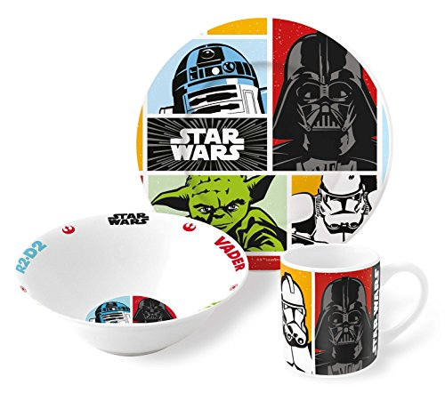 Star Wars Planetoys - Estuche Regalo Set merienda Ceramica