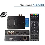 Illusion - Reproductor multimedia, Sa600 con conexión ethernet y wifi, alta definición (hd)