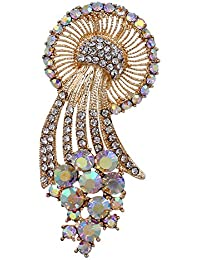 b055ad19a97 YouBella Jewellery Valentine Collection Designer Saree Pin/Brooch for  Women/Girls
