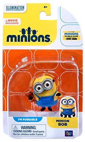 Minion Me Kostüm Despicable Uk (Minions Figur Bob mit Teddy Bär - PM Poseable - Aus dem Minions)