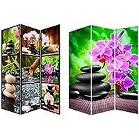 Biombo fotoimpresión sobre lienzo reforzado montado sobre bastidores de madera Relax Zen