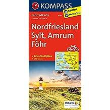 Nordfriesland, Sylt, Amrum, Föhr: Fahrradkarte. GPS-genau. 1:70000 (KOMPASS-Fahrradkarten Deutschland, Band 3001)