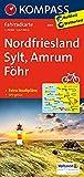 Nordfriesland, Sylt, Amrum, Föhr: Fahrradkarte. GPS-genau. 1:70000 (KOMPASS-Fahrradkarten Deutschland, Band 3001) -