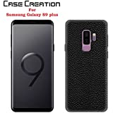Case Creation Samsung S9+ Leather Case Cover,Soft Slim Silicone Silicone Flexible Back Cover For Samsung Galaxy S9 Plus (HD Black)
