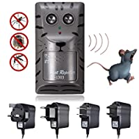 Veena Uk Plug Electronic Ultrasonic Pest Control Repeller Rat Mosquito Mouse Insect Rodent