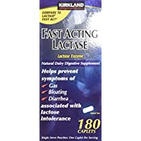 180 Caplets Fast Acting Lactase - Lactase Enzyme - Compare to the Active Ingr