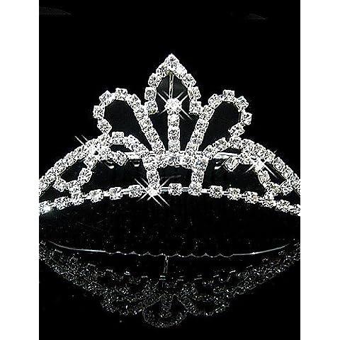 GAO&SP Nupcial de la boda de la princesa del desfile de baile Crystal Tiara Crown Tiaras