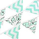 Girlanden Wimpelketten in verschiedenen Designs von baBice, baBice Kissen Muster:Zootiere mint