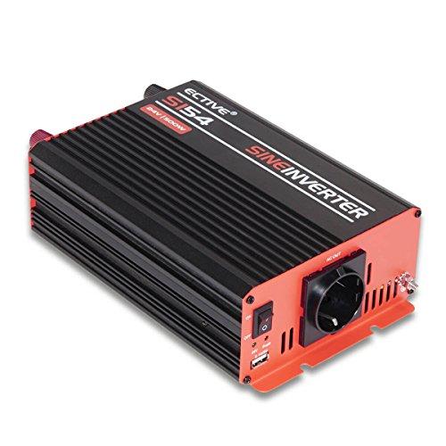 Preisvergleich Produktbild ECTIVE SI-Serie | Sinus Wechselrichter 500W | 12V zu 230V | 7 Varianten: 300W - 3000W | 12 Volt 500 Watt Spannungswandler DC auf AC, 12 V auf 230V Stromwandler, Inverter mit reiner Sinuswelle