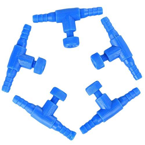 Control-ventil (5x Demarkt 2 wege Aquarium Air Control Ventile Luft kontrolle Ventile für Aquarium Blau)