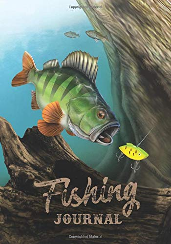 Fishing Journal: Fishing Log • Notebook For Anglers - My Best Lures, Fishing Spots & Fishing Methods - 110 Pages - 7