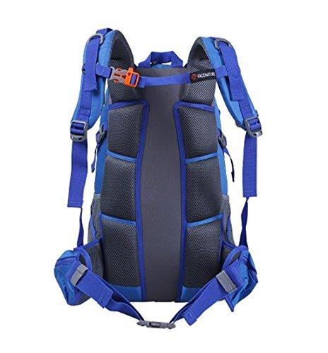 sacchetti di alpinismo 40L uomini e donne borsa a tracolla all'aperto zaino ultraleggero escursioni impermeabile viaggio zaino ( Colore : Rose red , dimensioni : 40L ) Blu zaffiro