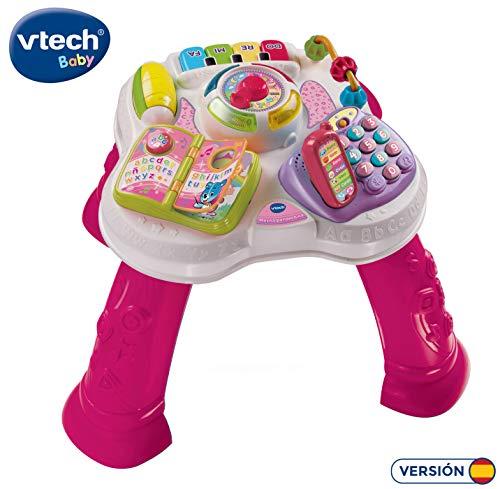 VTech Baby - Mesita parlanchina 2 en 1, mesa de actividades infantil con panel interactivo de actividades...