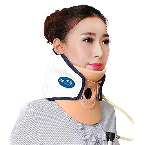 Wgwioo Hals-Zervix-Traktions-Gerät Medizinische Entlastung Vom Hals Und Von Den Oberen Rückenschmerzen Tragbar,White