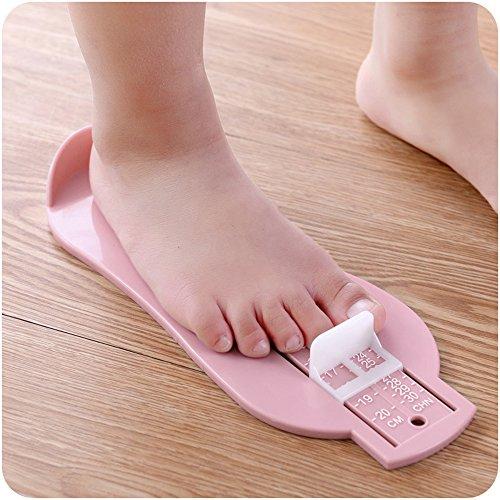Baby Fuß Lineal Kids Fuß Länge Messen Gauge Gerät Kind Schuh Taschenrechner Toddler Infant Schuhe Beschläge Gauge Werkzeug 23 * 8cm rose - Sie Messen Die Schuhgröße