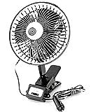 Auto Reise-Ventilator 12V Ventilator Metall schwarz Durchmesser ca. 20cm Kühler Raum-Lüfter Luft-Erfrischer Lüftung