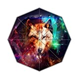 Enne paraguas Galaxy lobo viaje compacto paraguas lluvia viento plegable paraguas de sol UV...