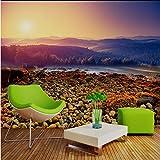 Guyuell Benutzerdefinierte Wandbild Schöne LandschaftStein Tv Hintergrundbild Wandbild Natur Wallpaper Für Hotels-350Cmx245Cm