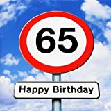 twizler 65. Geburtstag–Roadsign–65Jahre–Alter 65Geburtstag Karte