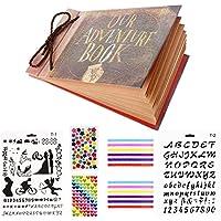 ThxMadam Scrapbook Our Adventure Book Álbum de Fotos Libro de Visitas de Boda con 80 Páginas