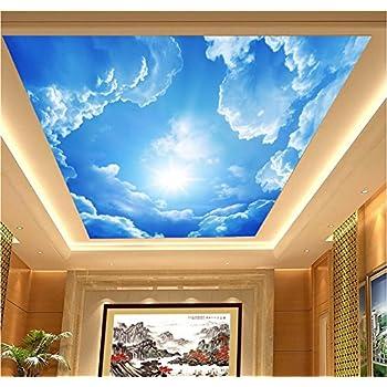 H&M Wallpaper PVC selbstklebende Tapete 3D blauer Himmel weiß Wolken ...