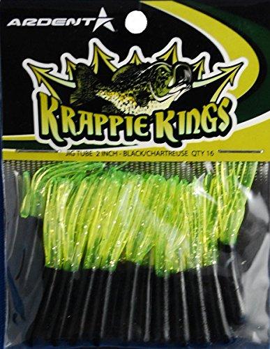 Krappie Kings Crappie/Zubereitung der Fische Jig Tube, schwarz/Chartreuse, 5,1cm (Schwarz Crappie Fische)
