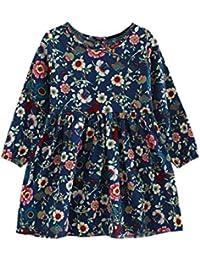 Vestido niña ❤ Amlaiworld Vestido de fiesta princesa de niñas Bebé Londo  Vestido de manga larga para Niñas Infantil Casual ropa Falda de… be72b5b7dab