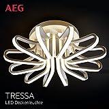 AEG LED Deckenleuchte, 1x 60W LED integriert (SMD-Chip), 1x 6000 Lumen, 3000K, Aluminium-Druckguss/Acryl, weiß