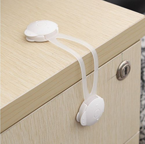 Baby Safety Strap Belt Long Lock Child kids Security latch Door Clip, Drawer, Cabinet (2pcs)