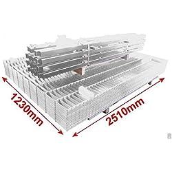 Doppelstab-Mattenzaun Komplett-Set / Verzinkt / 123cm hoch / 100m lang / Zaunanlage Gartenzaun Metallzaun Zaun