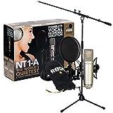 Rode NT1-A Juego condensador Micrófono + Soporte para micrófono Keepdrum