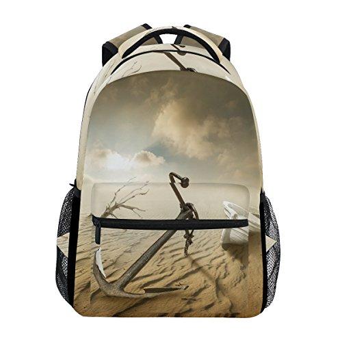 COOSUN Boots-Anker in der Wüste beiläufige Rucksack-Schule-Beutel-Spielraum-Daypack Mehrfarbig