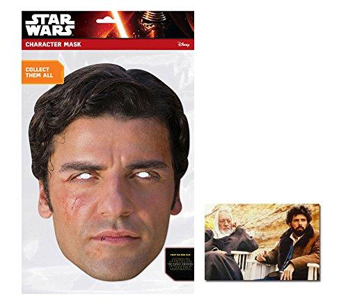 Poe Star Wars Force Awakens Single Karte Partei Gesichtsmasken (Maske) Enthält 6X4 (15X10Cm) starfoto