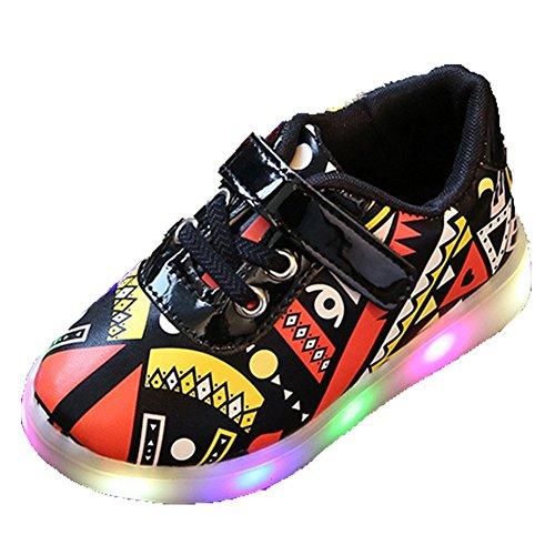 Ohmais Enfants Filles Garçon Chaussure de loisir chaussure de sport souliers Orange