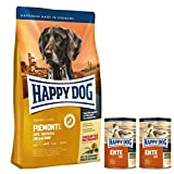 Happy Dog Mini Piemonte 2 x 4 kg + 2 x 400 g Dosen Ente pur